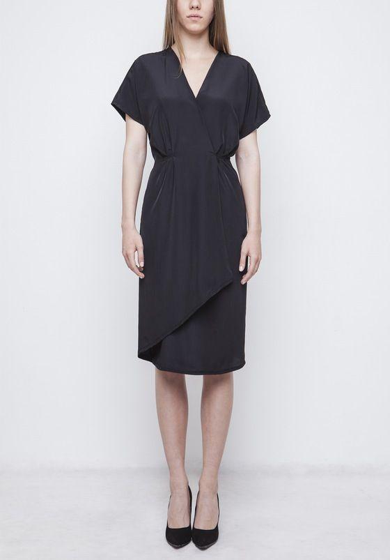 Image of Black Wrap Dress