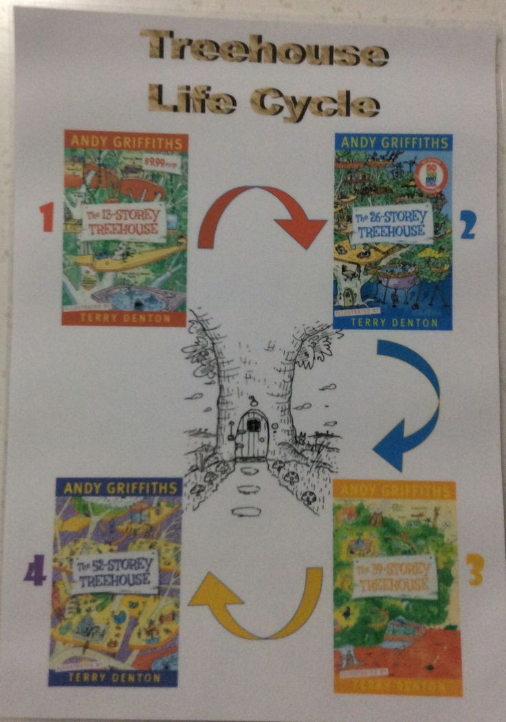 13 Storey treehouse - life cycle. Created by my son and I for his year 4 book bag project.