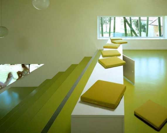 Educational building design Kindergarten, Modern Kindergarten Sighartstein by kadawittfeldarchitektur