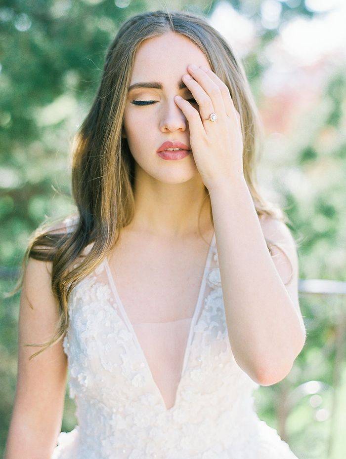 Romantic Rose Gold Makeup for a Spring Bride
