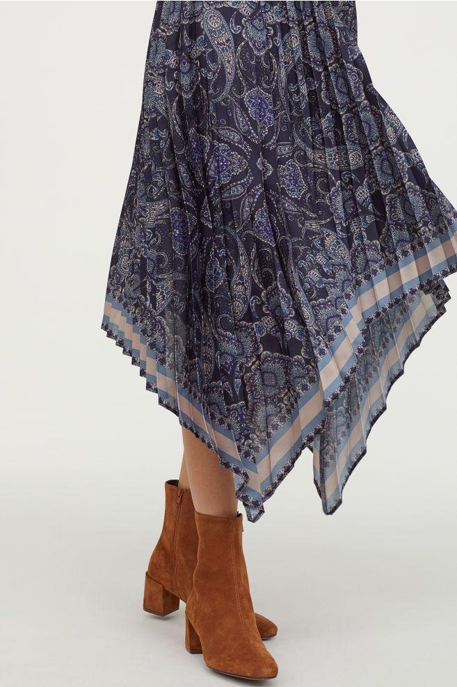 9bdd05019c7f Plisowana sukienka in 2019 | fffff | Asymmetrical skirt, Lace skirt ...