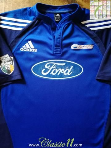 Official Adidas Blues home rugby shirt from the 2005 & 2006 seasons.