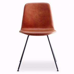 Steel Copilot Chair Brun læder