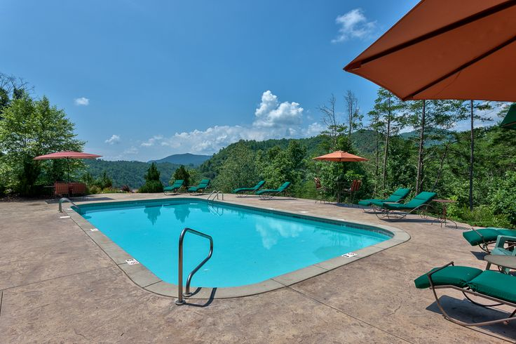 Swimming Pool Overlooking The Mountain View Right Outside Of The Fitness Center Amenities