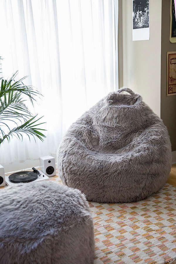 17e566a198 Slide View  1  Aspyn Faux Fur Shag Bean Bag Chair  BeanBagChair ...