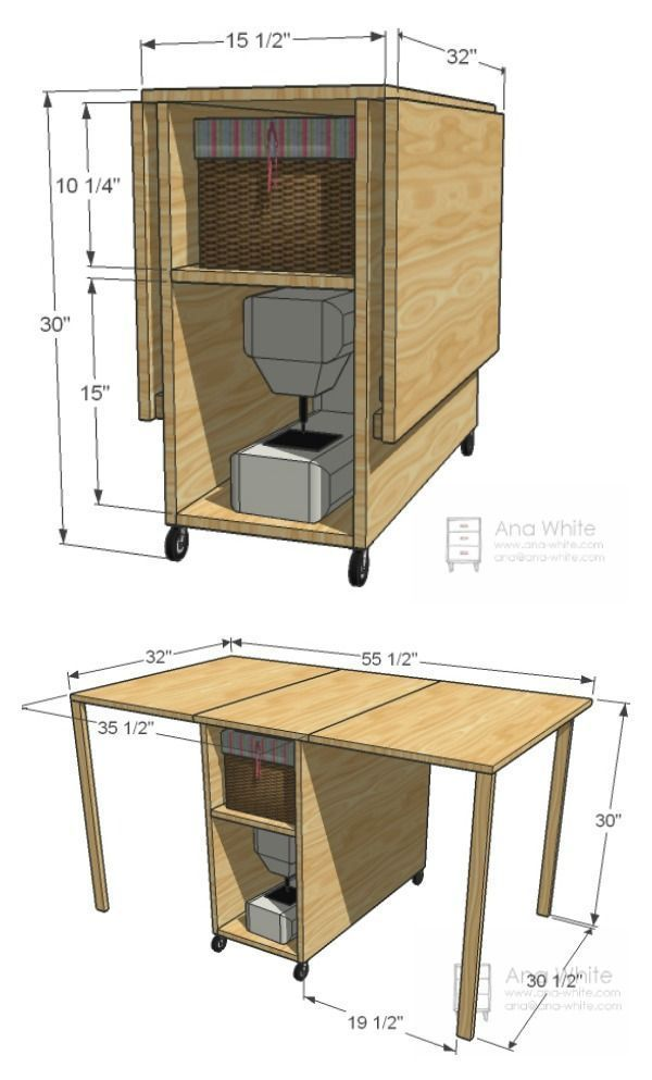 DIY Foldable Craft Table – Woodwork #WoodWorking