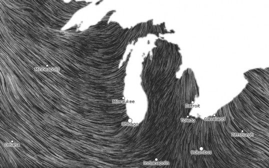 wind power map, wind map, real time wind map, graphic visualization of wind,