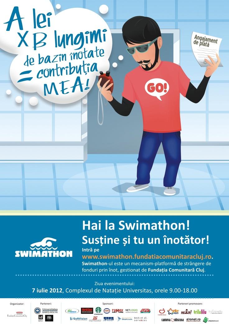 Susțineți-vă înotătorii și proiectele preferate la Swimathon Cluj!
