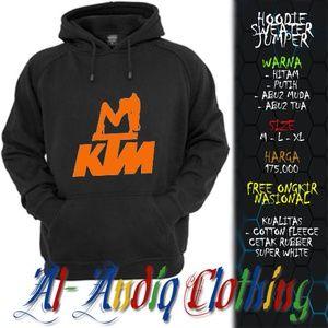 hoodie sweater jumper KTM Motor sexy girl print rubber 1 sisi abu-abu / putih / hitam