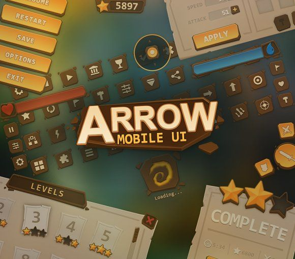 Arrow Mobile UI by EvilSystem on @creativemarket