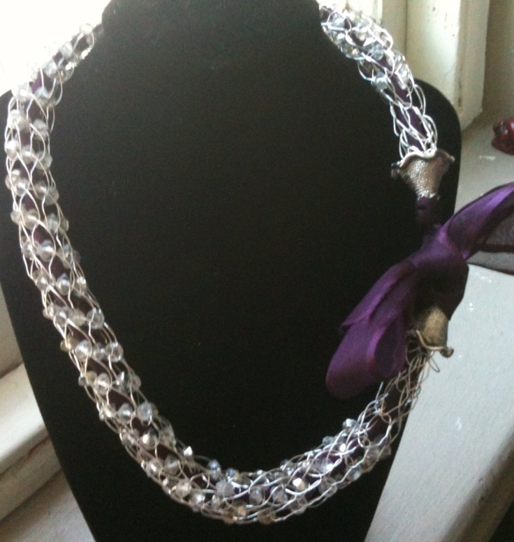 French Knitting Jewellery : Best images about french knitting on pinterest wool