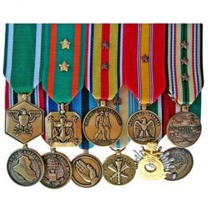Navy medals mounting order flowers