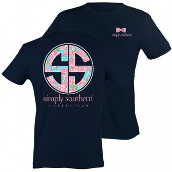 """Simply Southern """"Rose Logo"""" in Navy Tee misscocky.com"""