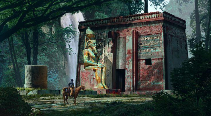 Forgotten Temple, Marek Mazur on ArtStation at https://www.artstation.com/artwork/kZ9Ox