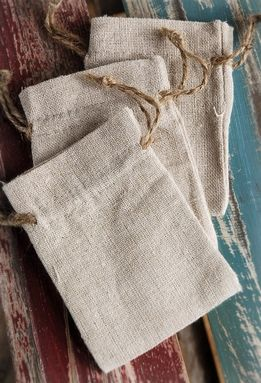 Linen Bags 3x4 (12 bags/pkg). I like this idea. Maybe we could stamp an M on it and throw in some hershey kisses?