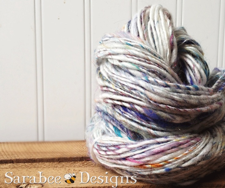 I Heart Unicorns Handspun Merino Bamboo Yarn. $24.50, via Etsy.