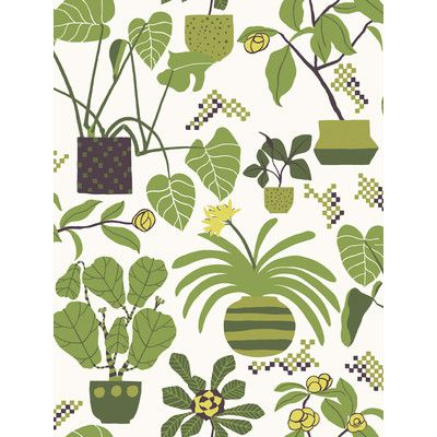 "Marimekko Volume 4 Ikkunaprinssi 33' x 21"" Botanical Wallpaper & Reviews | Wayfair"
