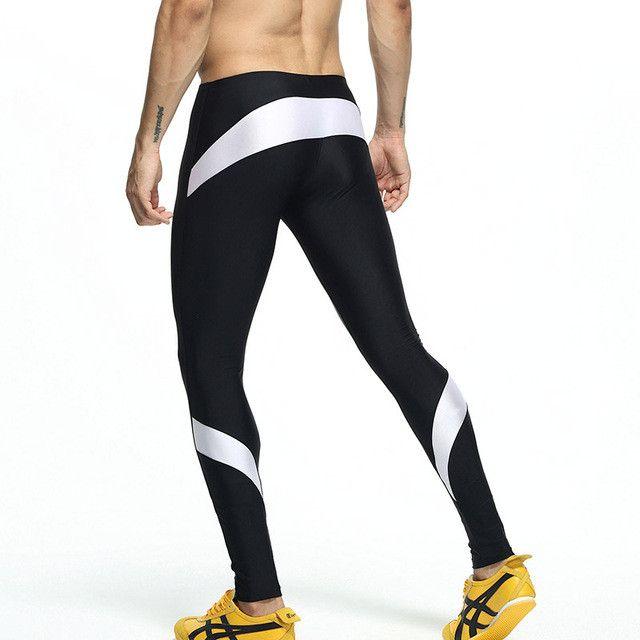 Sexy Men Long Pants Pencil Tight High Stretch Low Waist Men Bottoms Active Jogger Pants Men's Long Johns Legging
