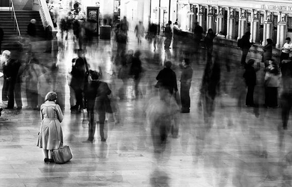 Waiting in Grand Central Station, NYC by James Maher