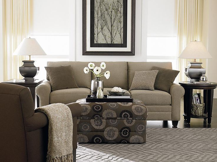 Bassett Furniture   Accent Ottoman W Chair / Couch Contrast