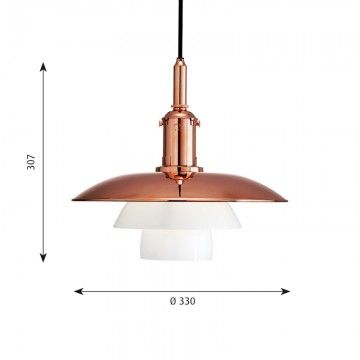 hanglamp PH 3 1/2 - Copper Louis Poulsen