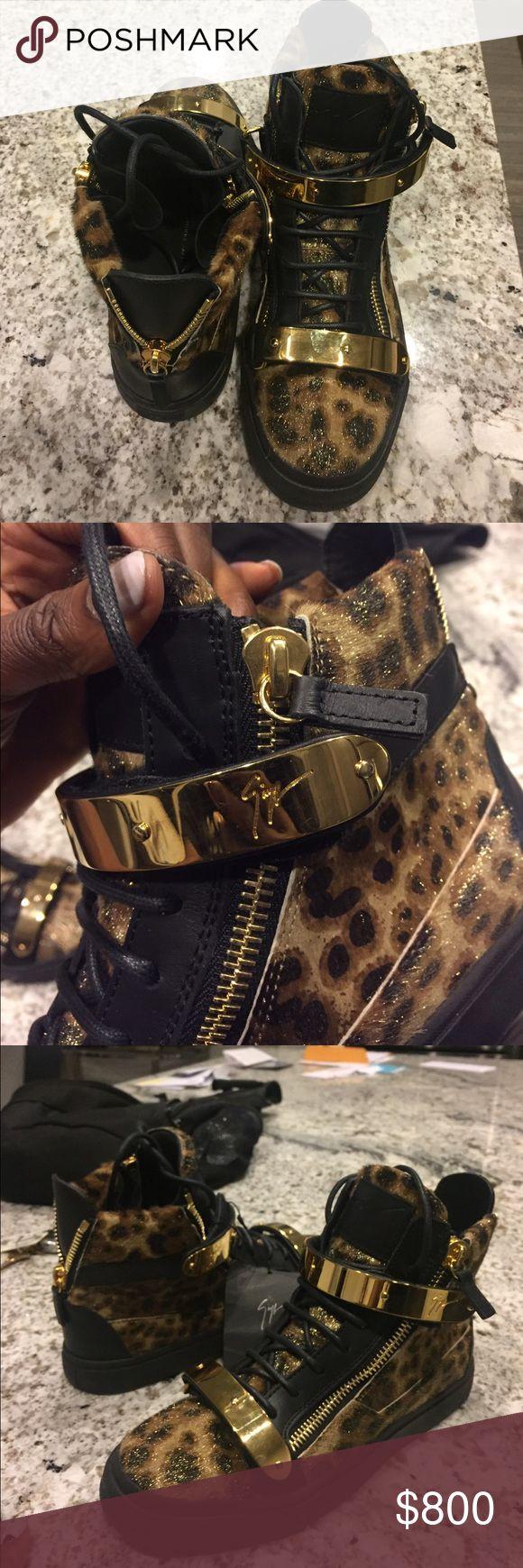 Giuseppe Zanotti Leopard Sneakers (Women's) Never Worn. Authentic Giuseppe sneakers. Size 9 (Women's) Giuseppe Zanotti Shoes Sneakers
