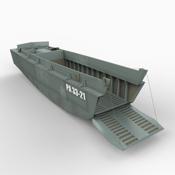 Custom Made WWII Higgins LCVP Landing Craft with Soldiers plastic model