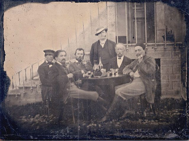This group photo from 1887 is reportedly the first photo ever found of Vincent Van Gogh after he became an artist. If experts are correct, then the man thi