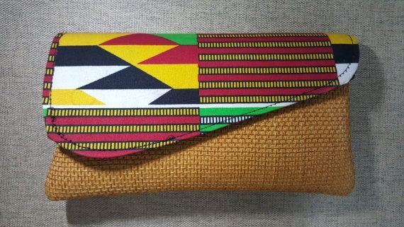 Kikoi Clutch Purse African purse Tribal Purse by KaribuAfrica