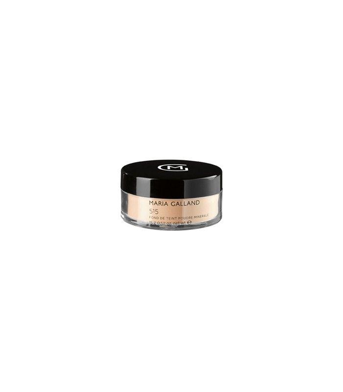 515 FOND DE TEINT POUDRE MINÉRALE [ Maria Galland ] Polvos minerales y fondo de maquillaje en un solo producto: unifica la piel como con un fondo de maquillaje, al tiempo que tiene el efecto matificante como unos polvos.