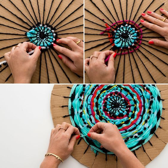 Comply with this tutorial to create a round weave.: