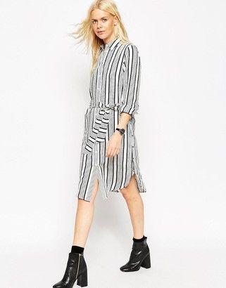 ASOS Shirt Dress in Stripe - Shop for women's Dress - Multi