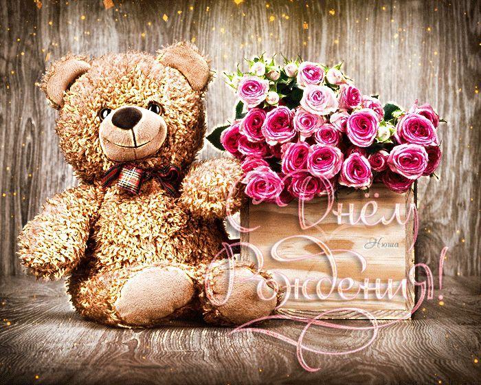 Gifki C Dnyom Rozhdeniya Zhenshine Bolee 100 Krasivyh Gif Animacij Teddy Bear Teddy Animals