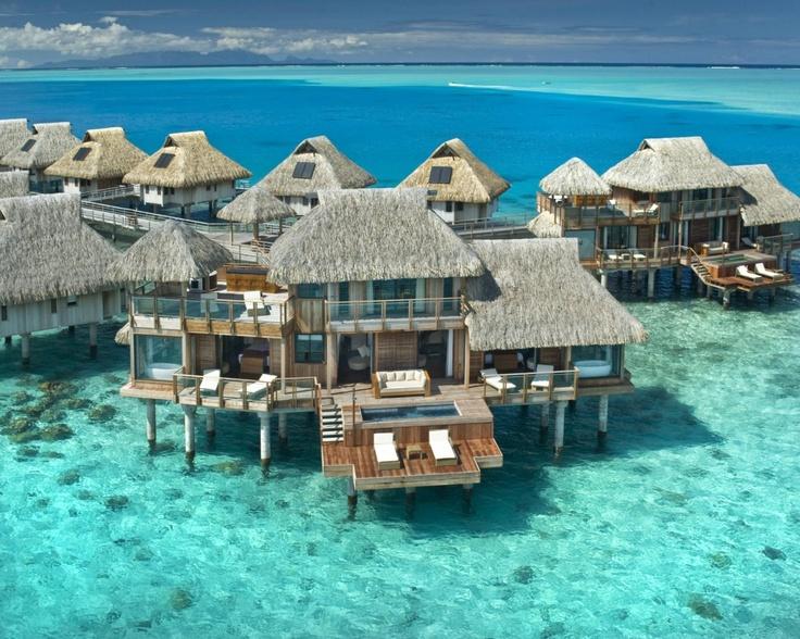 Bora Bora family vacation paradise!  Can you imagine?