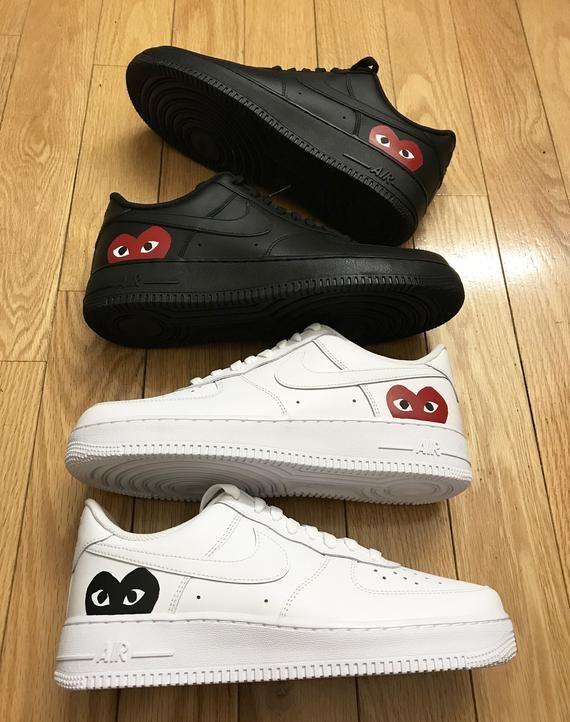 Custom Heart Nike Air Force 1 White