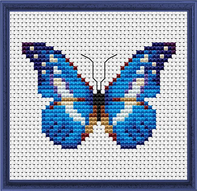 Graficos de mariposas en punto de cruz06