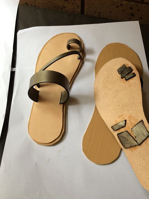 I tried to come up with a witty project title, I really did. But seriously... I MADE SHOES!      Real sandals. Out of leather. ...