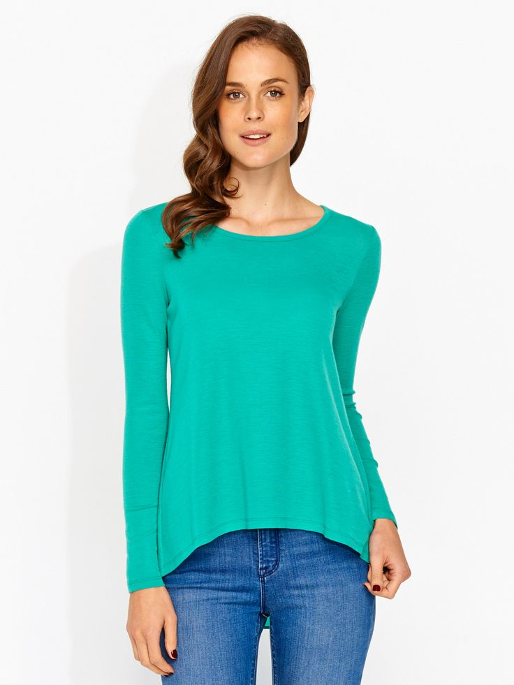 Image for Sheer Wool Spliced Layer Top from Portmans