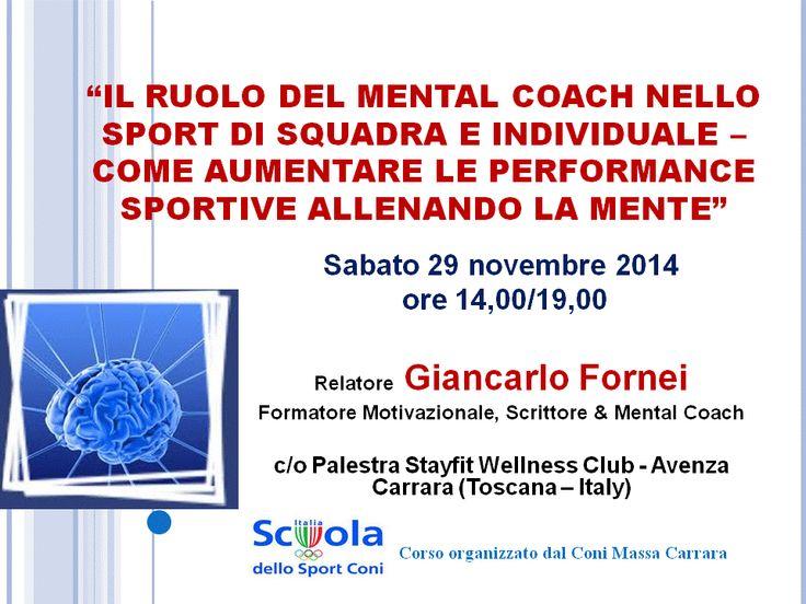 Intervento Giancarlo Fornei corso Coni Massa Carrara - 29 novembre 2014 -