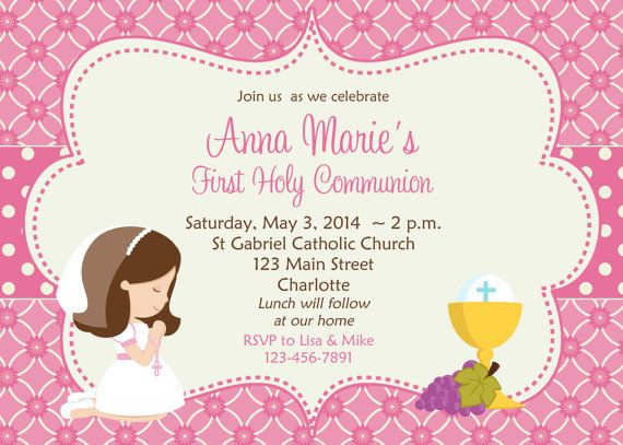 First Communion Invitation Holy Communion by TheButterflyPress, $12.00