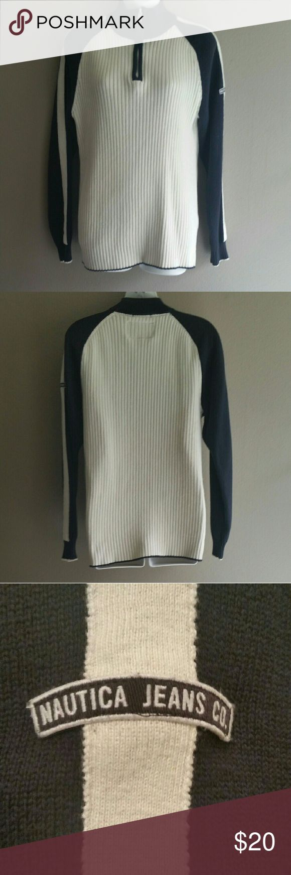 Men's pullover sweater by nautica CONDITION: Like New! --- CONCERNS: None! --- I will provide more pics, materials, measurements, etc. upon request! --- ***I welcome ALL OFFERS and do bundle discounts!*** Nautica Sweaters