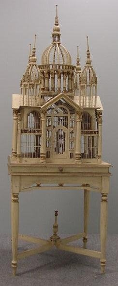 Victorian Palace Birdcage.  I want one of these for the dining room
