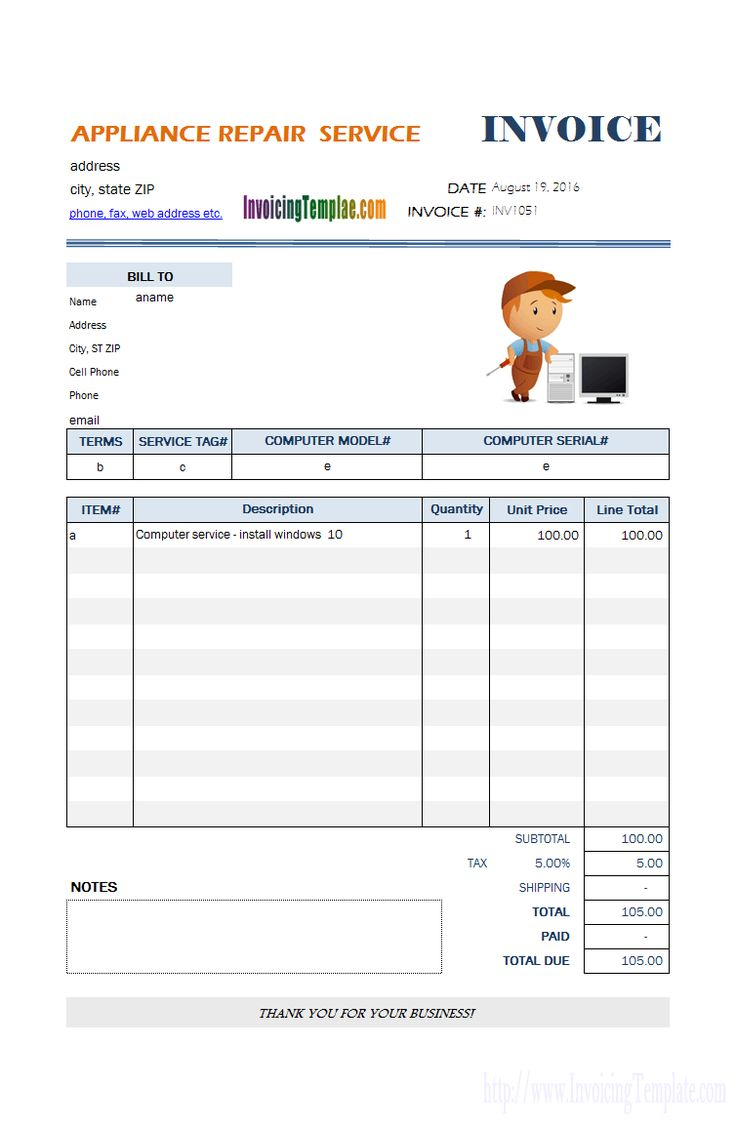 Auto Repair Invoicing Sample within Car Service Invoice