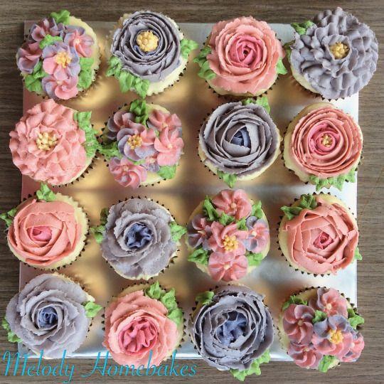 Buttercream flower cupcake