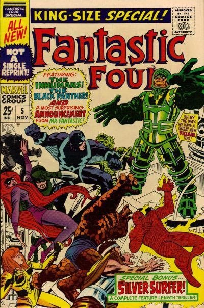 Fantastic Four Annual #5. Psycho-Man makes his debut. Cover by Jack Kirby.   http://ebay.to/1MkkL4b