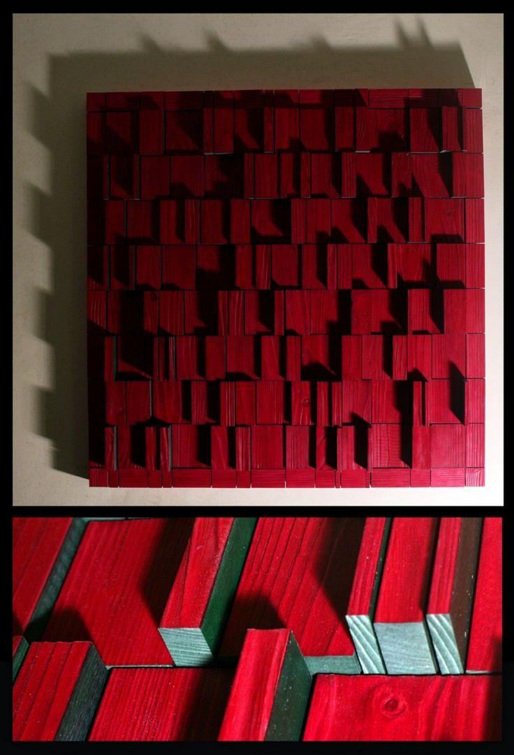 Composition 22, 82 x 82, acrylic on wood, 2015