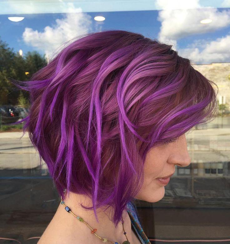 Purple+Bob+Hairstyle