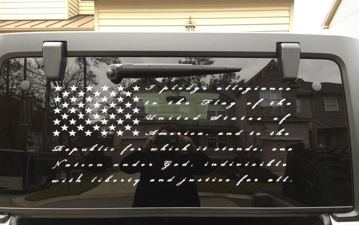 Jeep Rubicon, Flag, Pledge of Allegiance