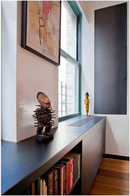 modern radiator cover + shelf - houzz.com
