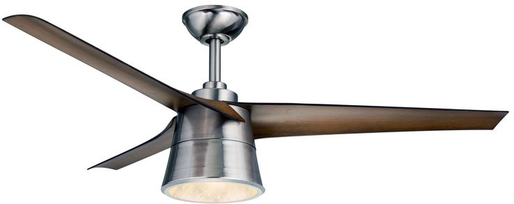 "Wind River WR1638 Cylon 52"" 3 Blade Hanging Indoor Ceiling Fan with Reversible M Stainless Steel / Walnut Fans Ceiling Fans Indoor Ceiling Fans"